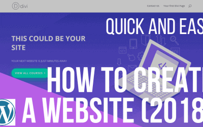 How to Create a WordPress Website (2018 Guide)
