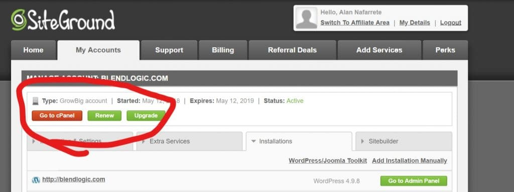 03 - How To Install WordPress in cpanel - Go To cPanel