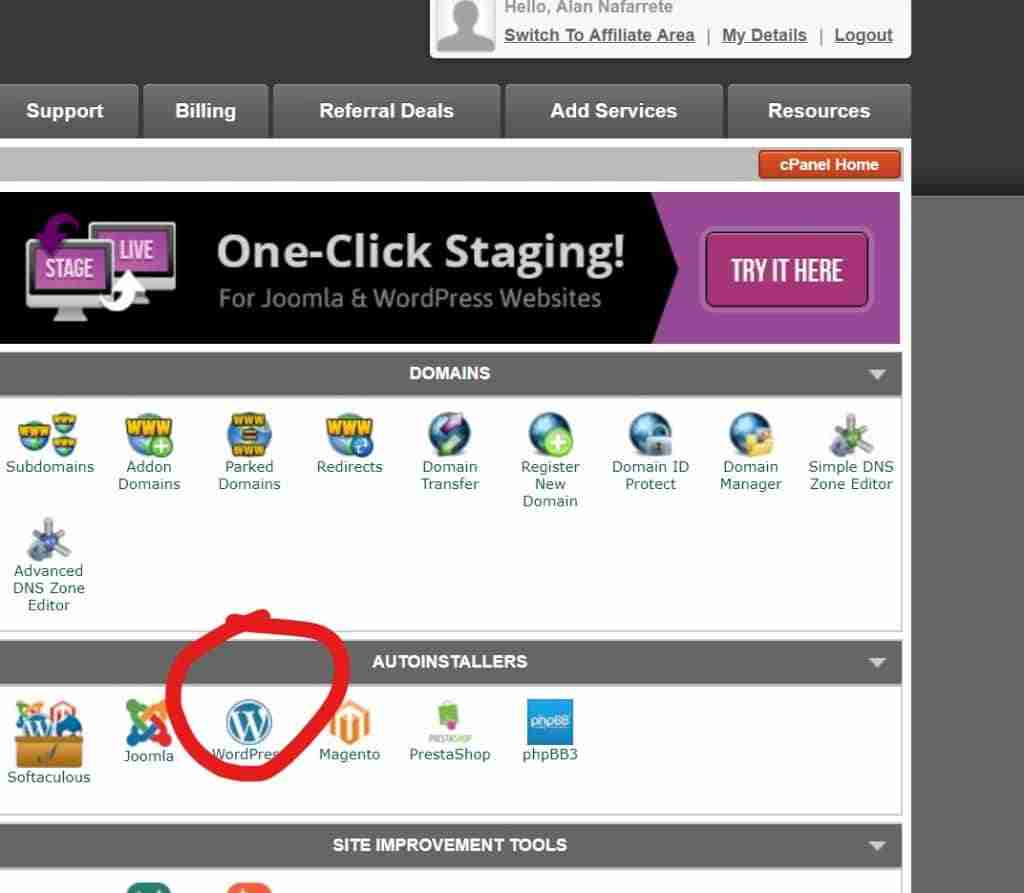 04 - How To Install WordPress in cpanel - Click on WordPress