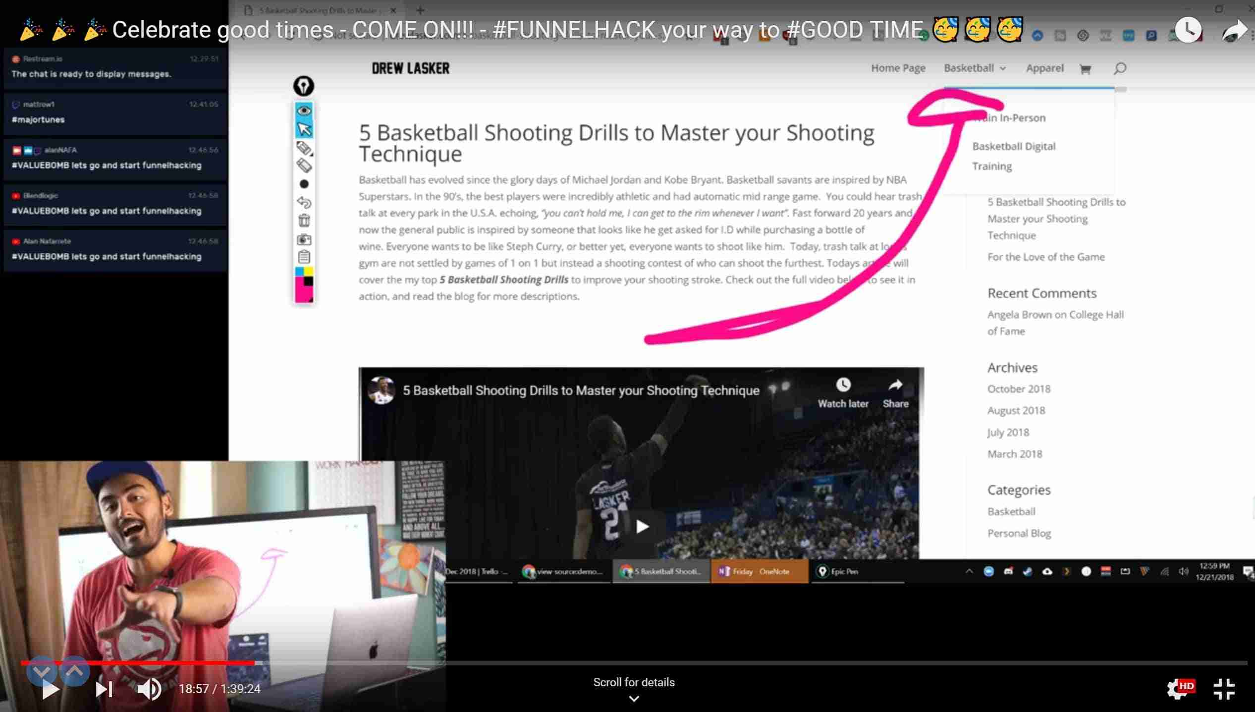Celebrate Good Times - Funnel Hacking - Website FUNNELS to BASKETBALL