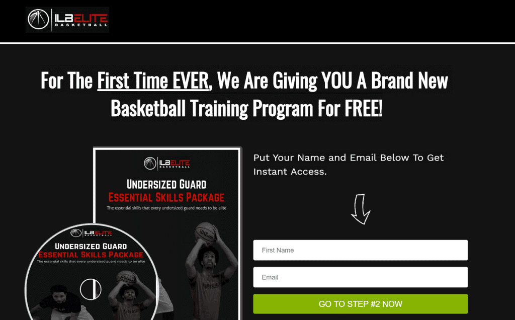 I Love Basketball - Free Optin Page