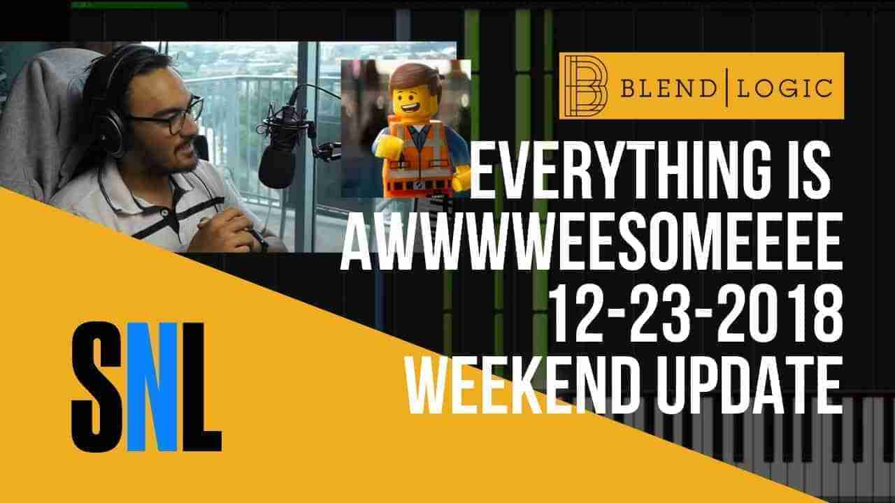 Weekend Update Everything is Awesome SNL